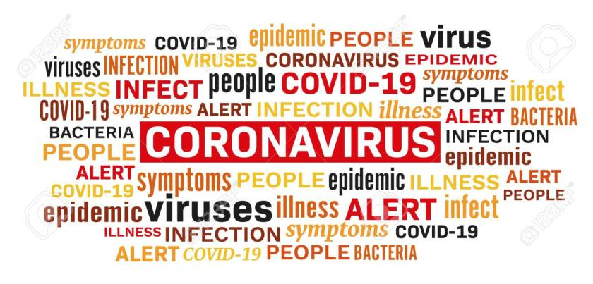Coronavirus disease epidemic illness word tag cloud