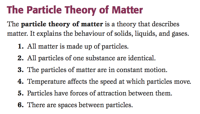 Science in Room 202: The Particle Theory of Matter